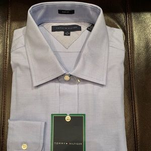 Tommy Hilfiger men's dress shirt size 17 34-35 NWT